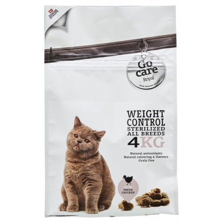 "GC ROYAL CAT W. CONTROL & STERIL ""GRAIN FREE""  4 KG."